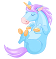 Magic Unicorn is Sleeping vector image