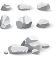 Collection of rocks and stone pile vector image