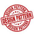 design pattern red grunge stamp vector image