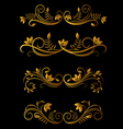 golden floral elements vector image