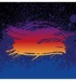Grunge colorful brush stroke on dark blue paint vector image