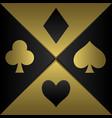 poker playing card symbols vector image