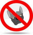 Sign ban dog vector image
