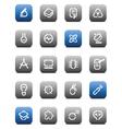 Stencil matt buttons for science vector image
