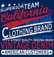 typography vintage denim brand logo print for vector image