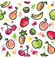 hand drawn fruits pattern vector image vector image