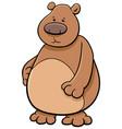 bear animal character vector image vector image