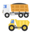 dump truck construction delivery truck vector image
