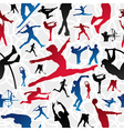 Sports silhouettes pattern vector image