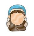 Virgin mary manger character design vector image