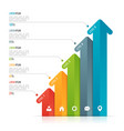 arrow infographic template for data visualization vector image