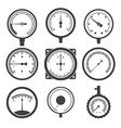 Manometers or pressure gauges and vacuum gauges vector image