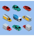 Flat 3d Isometric High Quality City Transport vector image