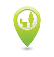 toilet GREEN map pointer vector image