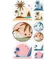 Beach Symbols vector image