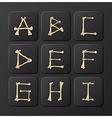 Bones Alphabets Set 1 vector image