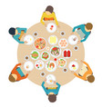 catering party with people vector image