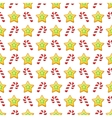 Christmas Seamless Pattern with Cookies vector image
