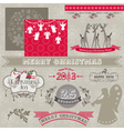 Design Elements - Vintage Merry Christmas vector image
