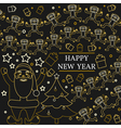 Happy new year greeting card EPS10 Monkeys and sa vector image
