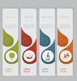 Infographic Design number banners template graphic vector image