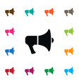 isolated amplification icon megaphone vector image