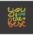 Lettering vector image
