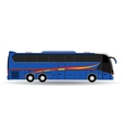 passenger bus isolated on white background vector image
