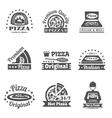Pizzeria Label Set vector image