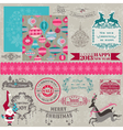 Design Elements - Vintage Merry Christmas vector image