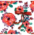 Seamless pattern with bouquets of summer vector image