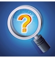 magnifying glass with question mark vector image vector image