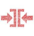press horizontal direction fabric textured icon vector image