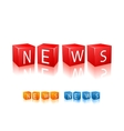 Letter cubes composed in word news vector image vector image