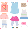 kid dress vector image