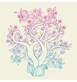 flowering tree vector image vector image