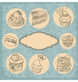 set of vintage labels cakes vector image
