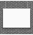 Banner on Brick Wall vector image