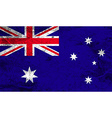 Flag of Australia with old texture vector image