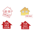 house for sale icons vector image vector image