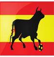 bull spanish soccer vector image vector image
