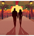 Romantic date in the evening vector image
