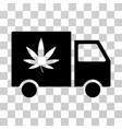 Cannabis delivery van icon vector image