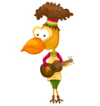 cartoon bird singing vector image