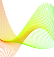 Color abstract wavy lines vector image