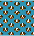 dog seamless on indigo blue background vector image
