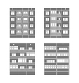 Panel houses set2 vector image