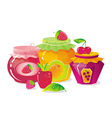 plenty of fruit and berry vector image