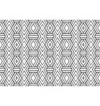 seamless black and white geometric pattern vector image