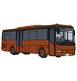 Simple brown bus vector image